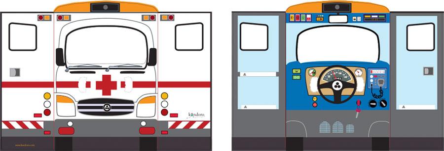 Casas de cartón Kandoro - vehículos
