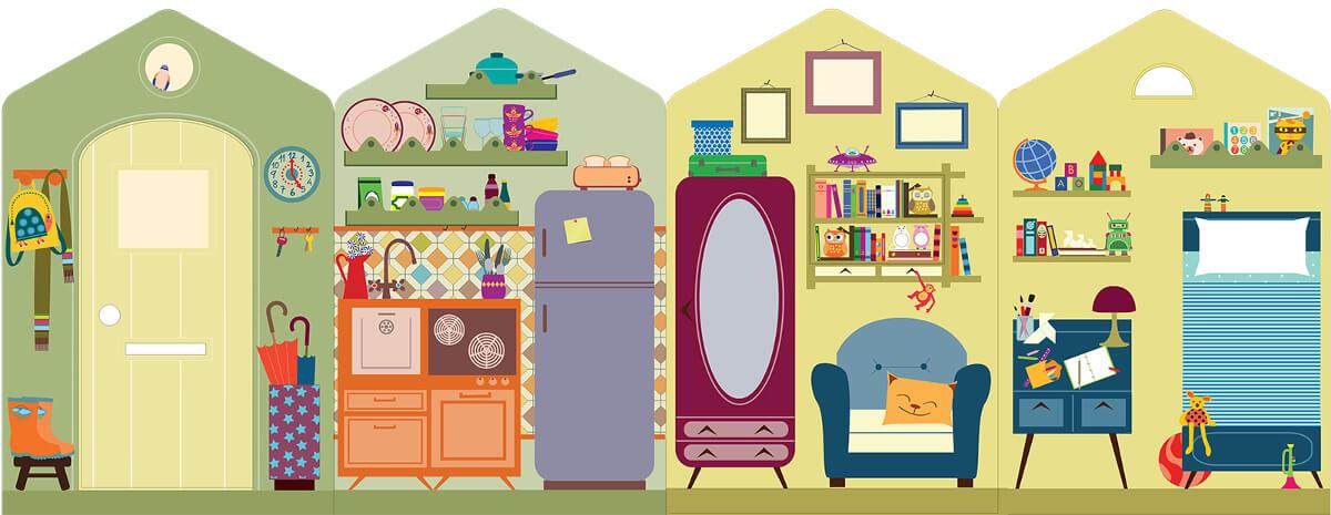 Casas de cartón Kandoro - Casa interior