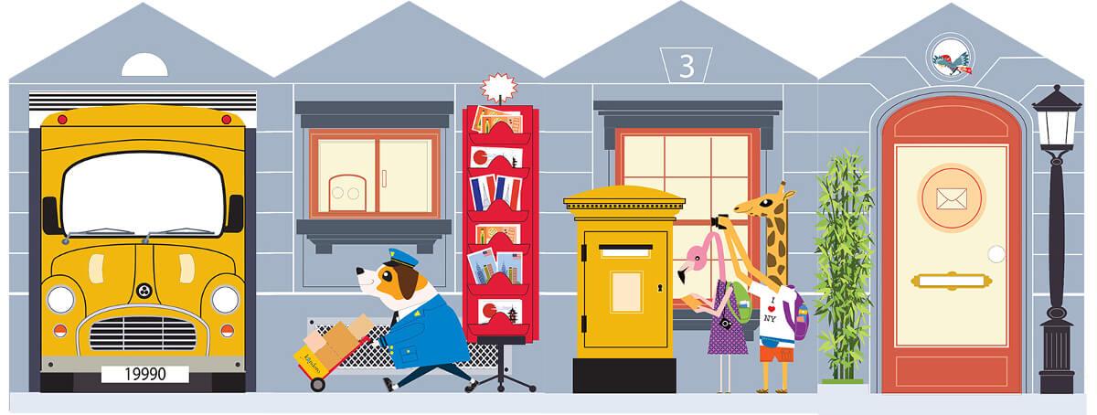 Casas de cart n la oficina de correos for Oficina de correos parla