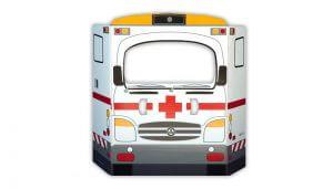 Ambulancia de cartón para niños