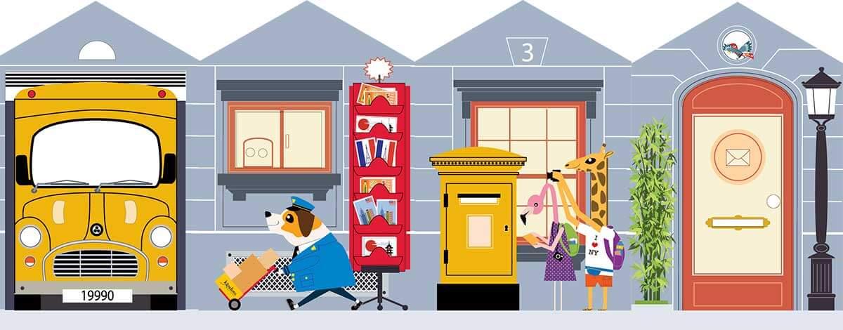 Juego educativo de una oficina de correos